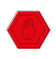 color warning metal notices with stop sign vector image vector image