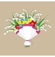 cute bouquet flowers vector image