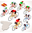 Cyclist 2016 Vuelta Espana Isometric People vector image