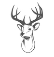 Deer head isolated on white background vector | Price: 1 Credit (USD $1)