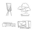 design of furniture and work symbol set of vector image vector image