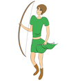 female archer vector image