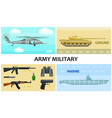 flat army and military composition vector image