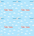 flat style seamless pattern with plane vector image