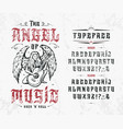 font the angel music vector image