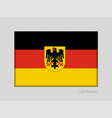 germany flag with coat of arms national ensign vector image