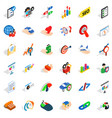 good career icons set isometric style vector image vector image