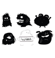hairy monsters vector image vector image