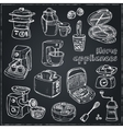 Home appliances themed doodle set vector image