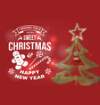 i wish you a very sweet christmas and happy new vector image