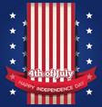 independence day card july 4 vector image vector image