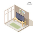 isometric design of a living room tv on the vector image vector image