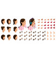 isometrics create your emotions for girl teenager vector image vector image