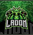 ladon esport mascot logo design vector image vector image
