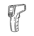 laser thermometer icon doodle hand drawn vector image