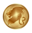 Leo gold medallion drive vector image vector image