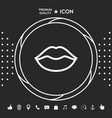 lips linel icon graphic elements for your vector image
