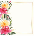 lovely colorful watercolor flower decoration vector image vector image