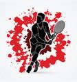 man tennis player running sport man action vector image vector image