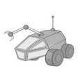 Mars exploration rover icon black monochrome style vector image vector image