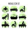 Massage black icons set vector image