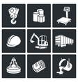 Metals Recycling Icons set vector image