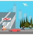 modern city life flat style vector image vector image