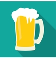 mug beer icon vector image vector image