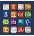 Photography design camera icon over colorful eps10 vector image vector image