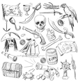 Pirates set Hand drawn vector image vector image