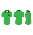 polo shirt design templates vector image vector image