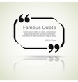 quote border vector image vector image