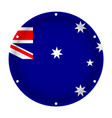 round metallic flag of australia with screw holes vector image vector image