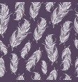 seamless ethnic pattern of beautiful feathers vector image vector image