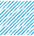seamless pattern with blue brush diagonal vector image