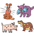 Set of cartoon curious dogs cartoon vector image