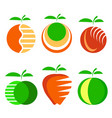 set of different apple fruit icons isolated vector image vector image