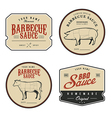 set vintage homemade barbecue sauce labels vector image vector image