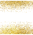 Shiny golden glitter on white background vector image