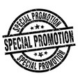 special promotion round grunge black stamp vector image vector image