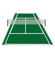 tennis court design vector image vector image