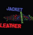 the leather jacket i now love text background vector image vector image
