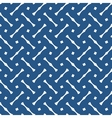 Tile blue and white pattern or dark background vector image