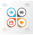 user icons set collection of cloud eye floppy vector image vector image