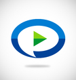 video play talk bubble logo vector image vector image