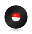 vinyl music record vintage gramophone disc vector image vector image