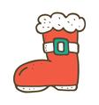 Santa boot vector image