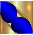 abstract blue and golden metallic background vector image