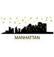 Manhattan with stars vector image
