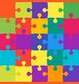 25 colorful puzzle jigsaw pieces background vector image vector image